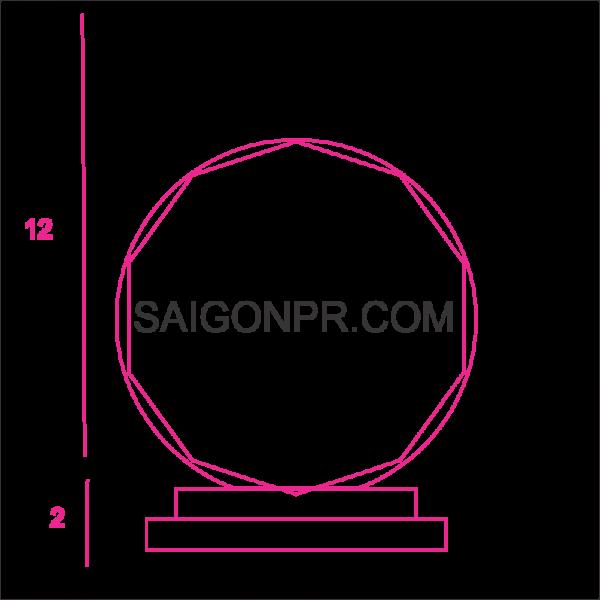 Kỷ niệm chương hình tròn KNC_HT_B